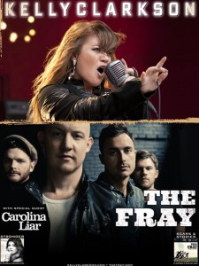 Kelly-Clarkson and The-Fray-hollywood at The Jiffy Lube Live