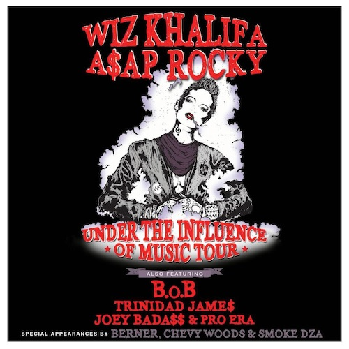 Wiz Khalifa & ASAP Rocky at Jiffy Lube Live