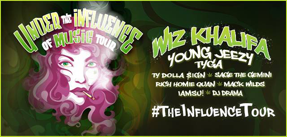 Under the Influence of Music Tour: Wiz Khalifa & Tyga at Jiffy Lube Live
