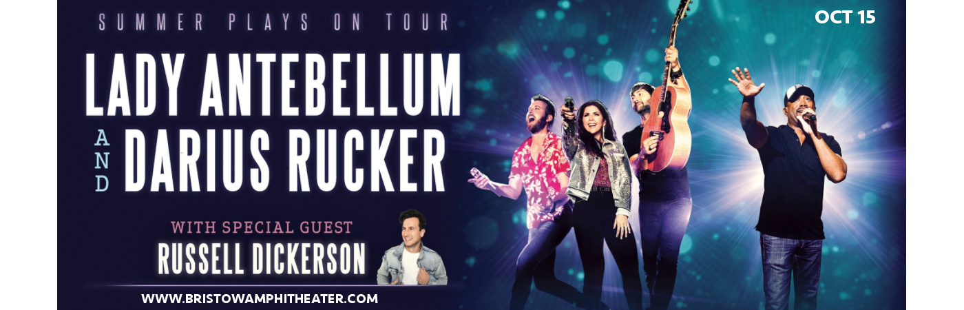Lady Antebellum, Darius Rucker & Russell Dickerson at Jiffy Lube Live