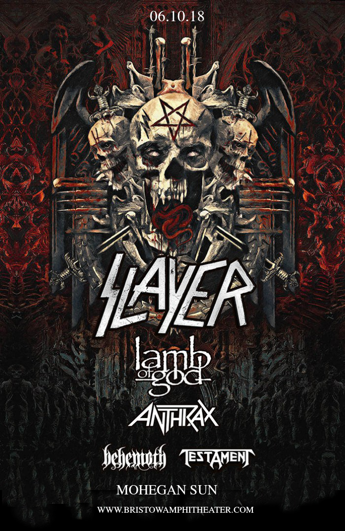 Slayer, Lamb of God, Anthrax. Behemoth & Testament at Jiffy Lube Live