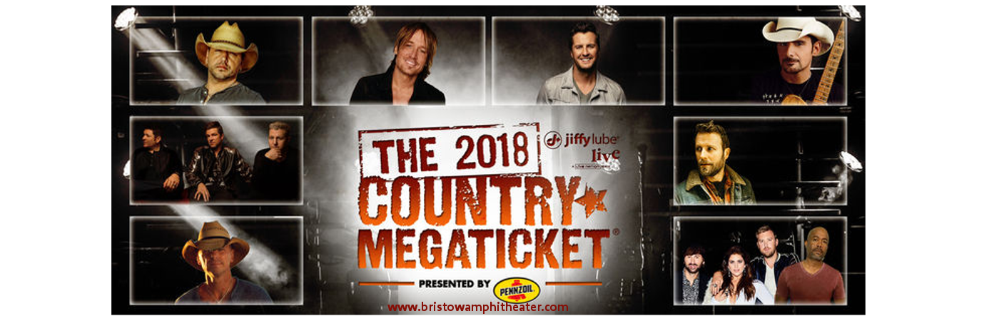 2018 Country Megaticket Tickets (Includes All Performances) at Jiffy Lube Live