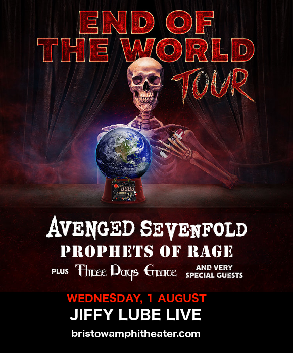 End of the World Tour: Avenged Sevenfold, Prophets of Rage & Three Days Grace at Jiffy Lube Live