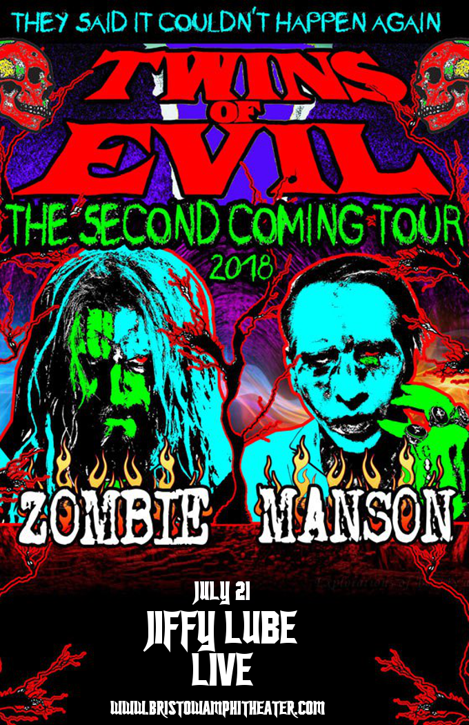 Rob Zombie Marilyn Manson At Jiffy Lube Live