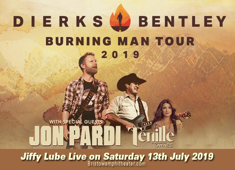 Dierks Bentley, Jon Pardi & Tenille Townes at Jiffy Lube Live