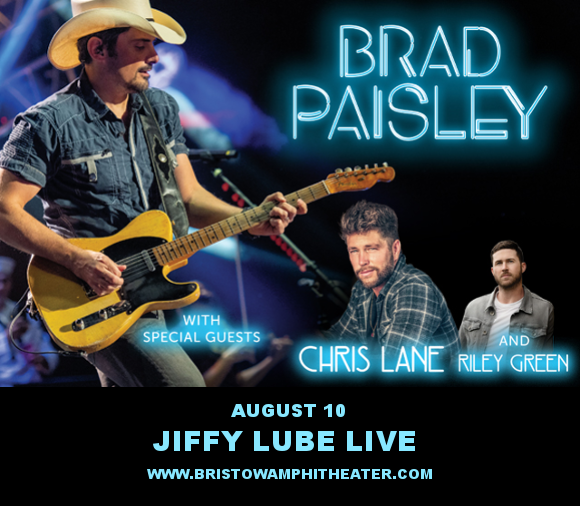 Brad Paisley, Chris Lane & Riley Green at Jiffy Lube Live