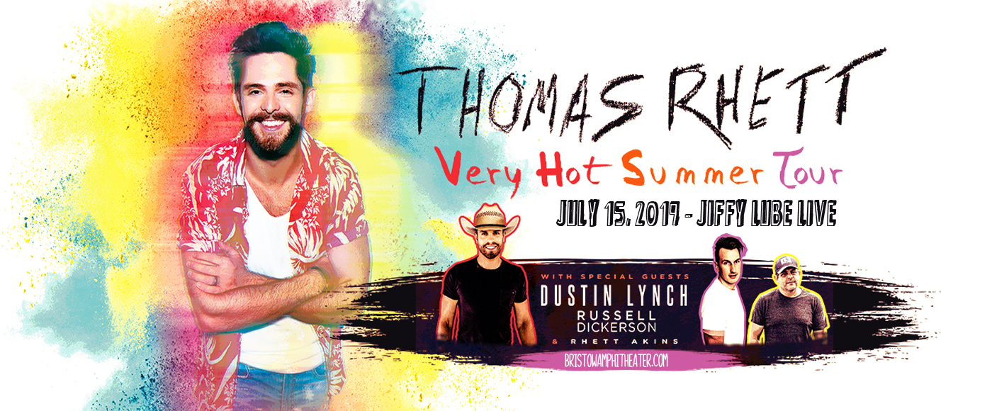 Thomas Rhett, Dustin Lynch & Russell Dickerson at Jiffy Lube Live