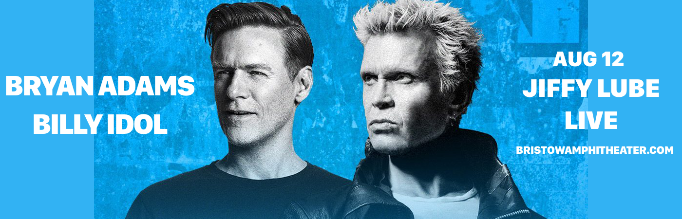 Bryan Adams & Billy Idol at Jiffy Lube Live
