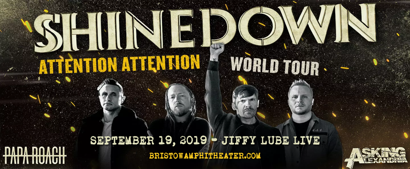 Shinedown, Papa Roach & Savage After Midnight at Jiffy Lube Live