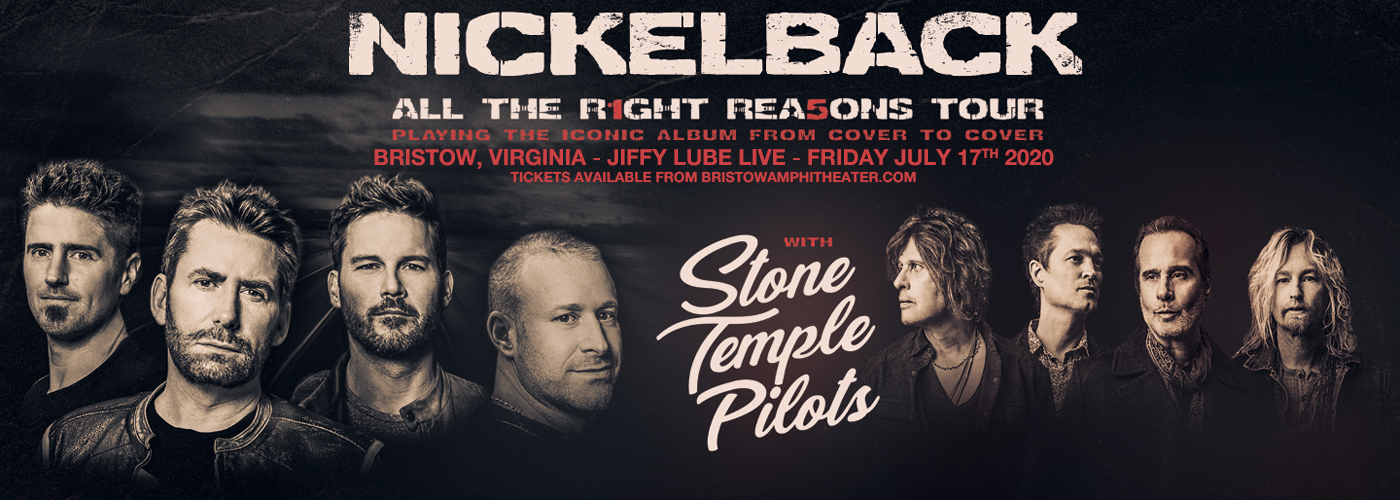 Nickelback, Stone Temple Pilots & Tyler Bryant and The Shakedown at Jiffy Lube Live