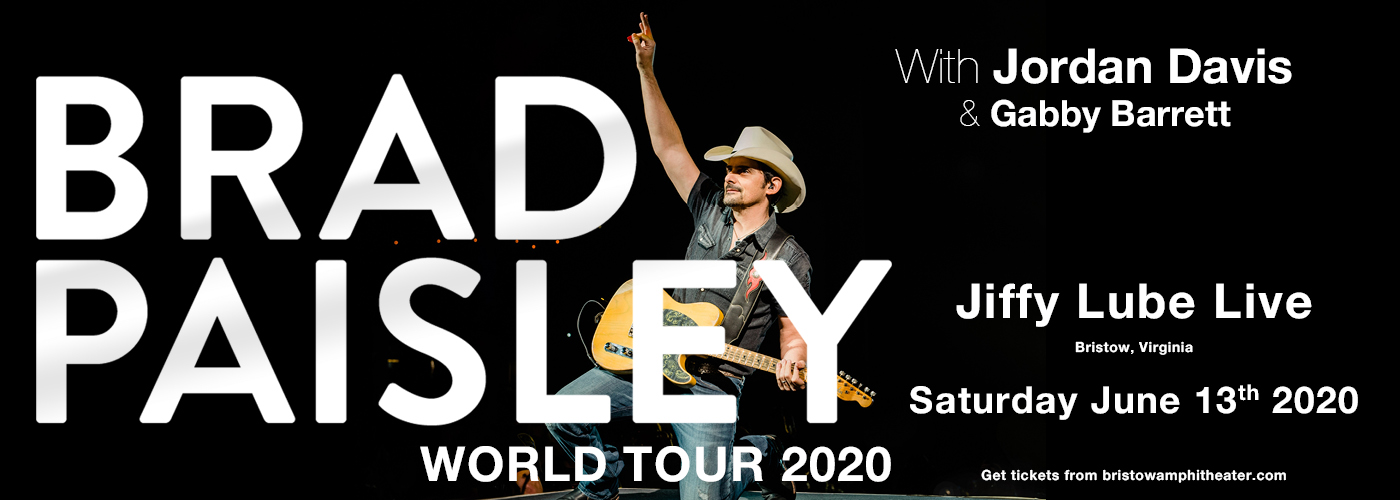 Brad Paisley, Jordan Davis & Gabby Barrett [CANCELLED] at Jiffy Lube Live
