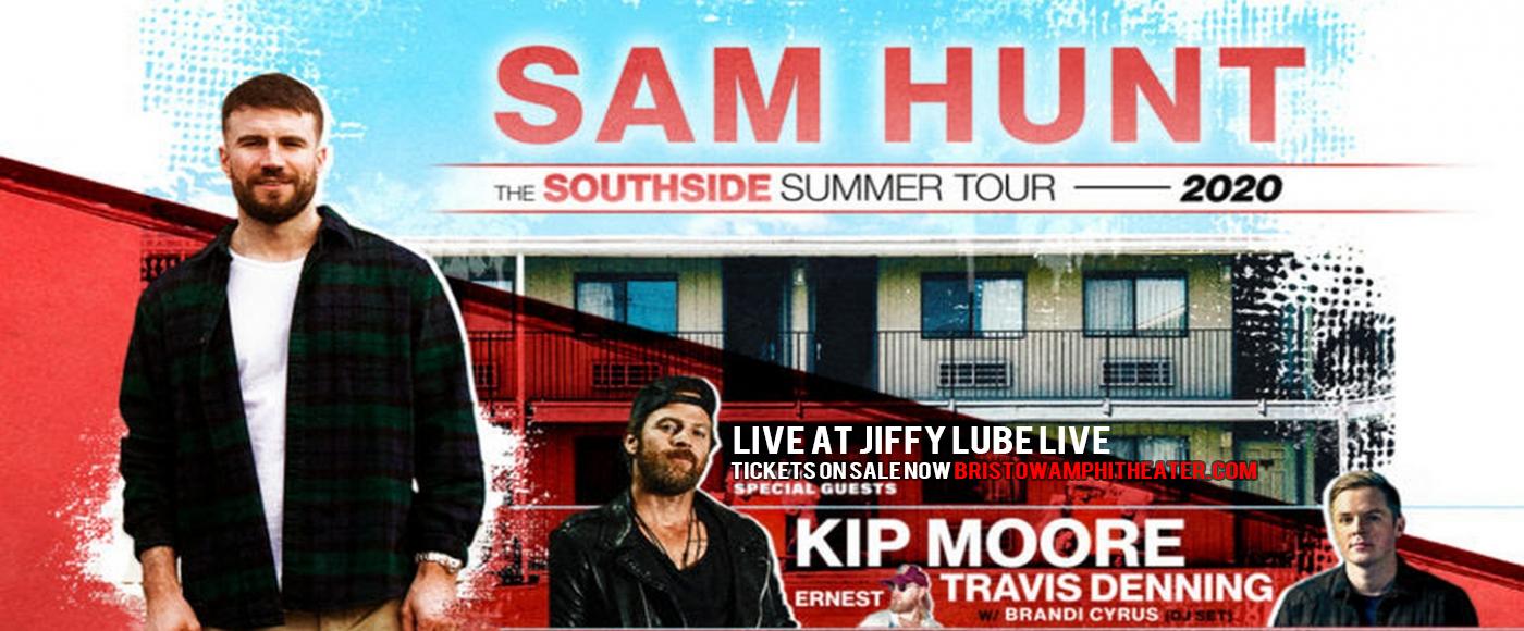 Sam Hunt, Kip Moore & Travis Denning [CANCELLED] at Jiffy Lube Live